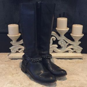 Authentic Coach ladies size 7 black leather boots